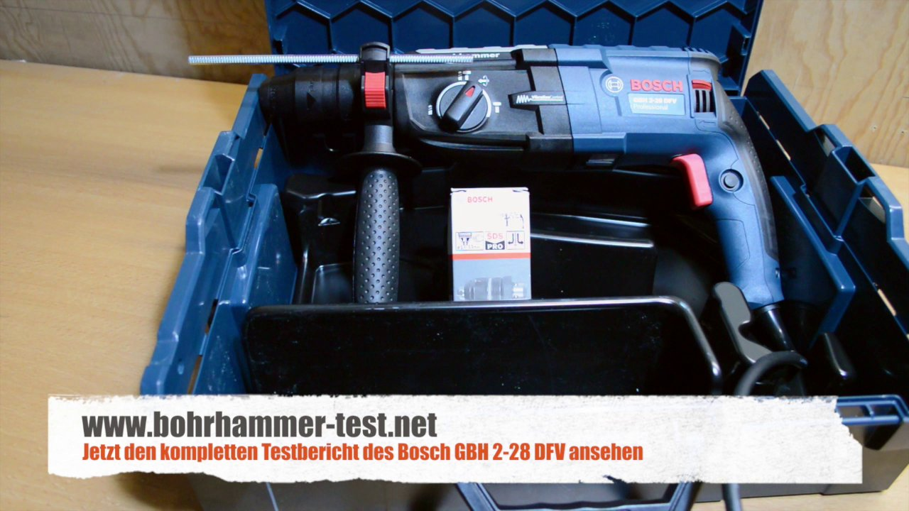 bosch gbh 2 28 dfv bohrhammer im test neu professional. Black Bedroom Furniture Sets. Home Design Ideas