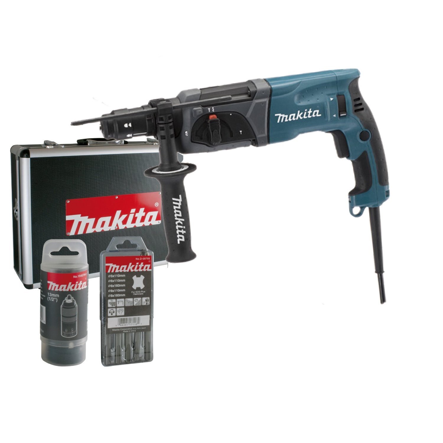 makita hr2470ftx bohrhammer set im test neu. Black Bedroom Furniture Sets. Home Design Ideas